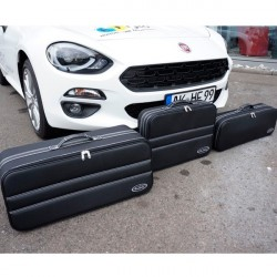Set of luggages, taylor-made suitcases for Fiat 124 Spider convertible