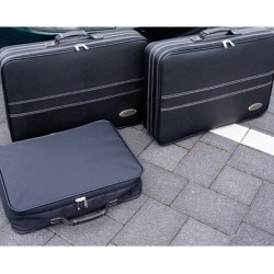 Set of luggages, taylor-made suitcases front chest for Porsche 996 convertible (2002-2004)