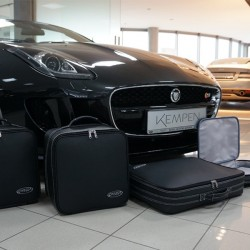 Set of luggages, taylor-made leather suitcases for Jaguar F-Type convertible