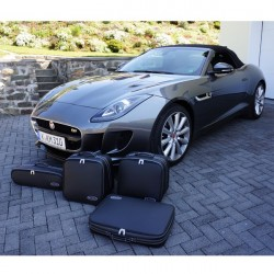 Set of luggages, taylor-made suitcases for Jaguar F-Type convertible (2017)