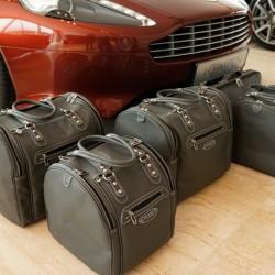 Bagagerie sur-mesure cuir Aston Martin Virage Volante cabriolet