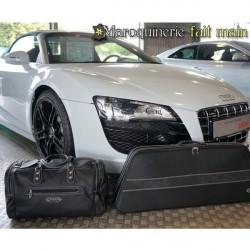 Bagagerie sur-mesure cuir Audi R8 Spider cabriolet
