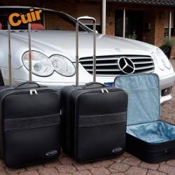 Bagagerie sur-mesure cuir Mercedes SL R230 cabriolet
