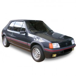 Soft top Peugeot 205 convertible in Alpaca Stayfast®