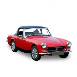 Soft top Austin Healey Sprite MK3 convertible in Alpaca Stayfast®