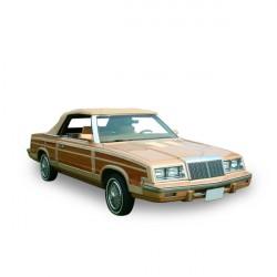Capote Chrysler Le Baron cabriolet Vinyle - Lunette verre (1984-1986)