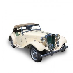 Soft top MG TD convertible in Alpaca Stayfast®