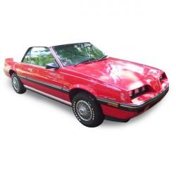Capote Pontiac Sunbird cabriolet Vinyle (1983-1987)