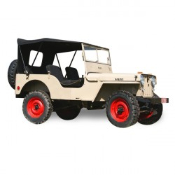 Soft top Jeep CJ 2A convertible Vinyl (1946-1949)