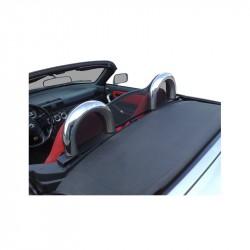 Frangivento nero (Windschott) per rollbar Toyota MR2 Cabriolet