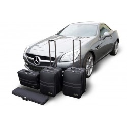 Set of luggages, taylor-made suitcases for Mercedes SLC convertible