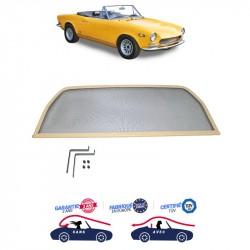 Frangivento beige (Windschott) Fiat 124 CS1 Cabriolet
