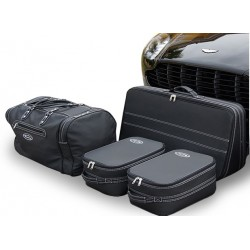 Set of luggages, taylor-made leather suitcases for Aston Martin V8 Vantage coupé