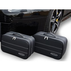 Set of luggages, taylor-made leather suitcases for Aston Martin V8 Vantage