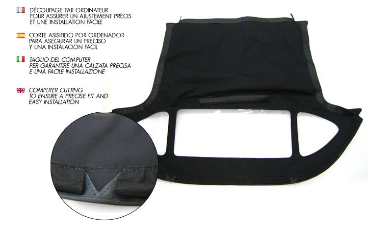 Lotus Elan S1/S2 : convertible soft top in vinyl